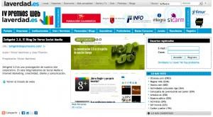 Zeitgeist 2.0, el blog de VERSO Social Media, finalista en los IV Premios WEB de laverdad.es