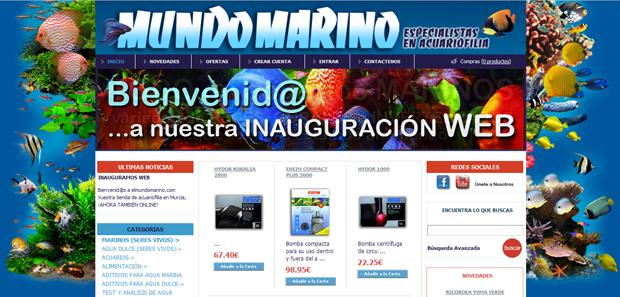 Mundo Marino, Tienda Online